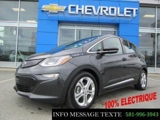 Used 2017 Chevrolet Bolt EV ELECTRIQUE 2LT, PNEUS ETE ET HIVER for sale in Ste-Marie, QC