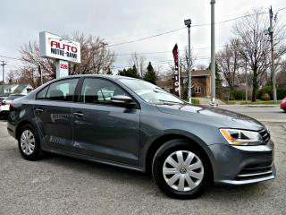Used 2015 Volkswagen Jetta Trendline+ 1.8 TSI -- CAM RECUL - BLUET for sale in Repentigny, QC