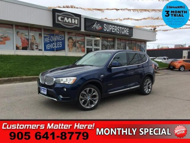 2016 BMW X3 xDrive28i  AWD LEATH ROOF NAV CAM HS P/GATE P/SEATS