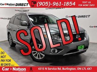 Used 2015 Nissan Pathfinder SL| 4X4| LEATHER| DUAL SUNROOF| NAVI| for sale in Burlington, ON
