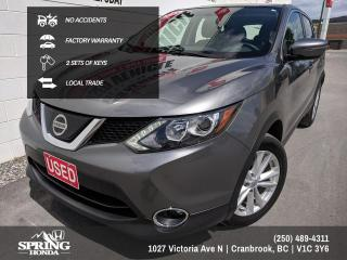 Used 2018 Nissan Qashqai SV NO ACCIDENTS, FACTORY WARRANTY, WELL MAINTAINED, 2 SETS OF KEYS, LOCAL TRADE - $160 BI-WEEKLY - $0 D for sale in Cranbrook, BC