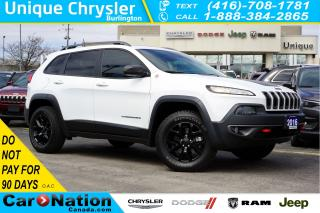 Used 2016 Jeep Cherokee TRAILHAWK| SAFETY TEC GRP| SUNROOF| NAV & MORE for sale in Burlington, ON