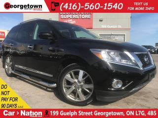 Used 2014 Nissan Pathfinder Platinum | 4X4 | DVD | HTD STEERING | LEATHR|PANO for sale in Georgetown, ON