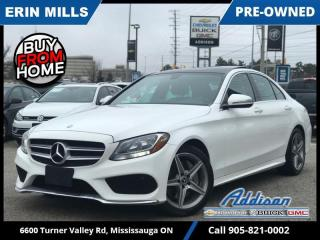 Used 2017 Mercedes-Benz C-Class 4MATIC Sedan  NAVI|PREM PKG|SPORT PKG|PANO ROOF| for sale in Mississauga, ON