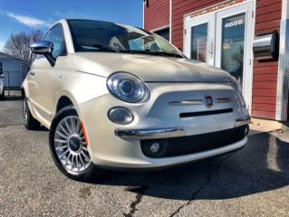 Used 2012 Fiat 500 GUCCI, Voiture à hayon 2 portes Lounge for sale in Drummondville, QC