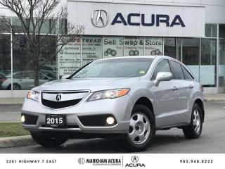 Used 2015 Acura RDX Tech at AWD, A/S Tires Rims Avail, Navi for sale in Markham, ON