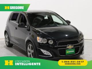 Used 2015 Chevrolet Sonic RS TURBO A/C CUIR for sale in St-Léonard, QC