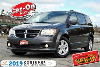 Used 2018 Dodge Grand Caravan Crew LEATHER REAR CAM HTD SEATS FULL PWR GRP for sale in Ottawa, ON