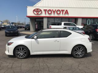 Used 2016 Scion tC ALLOYS , power pkg ,Ac ,cloth  in white pearl for sale in Cambridge, ON