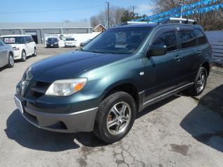 Used 2006 Mitsubishi Outlander LS *Clean Carproof* Certified w/ 6 Month Warranty for sale in Brantford, ON