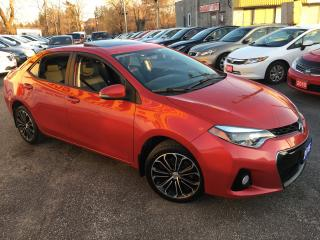 Used 2015 Toyota Corolla S/ AUTO/ BACK UP CAM/ SUNROOF/ ALLOYS/ LIKE NEW! for sale in Scarborough, ON