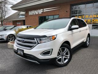Used 2016 Ford Edge Titanium AWD Navi Remote Starter Pano Certi* for sale in Concord, ON