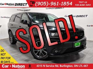 Used 2018 Dodge Durango GT  AWD  NAVI  SUNROOF  DUAL DVD  for sale in Burlington, ON