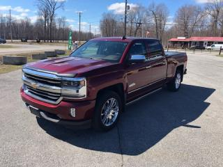 Used 2016 Chevrolet Silverado 1500 High Country Crew Cab 4x4 Nav Letaher for sale in Smiths Falls, ON