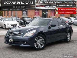 Used 2011 Infiniti G37 X Luxury One Owner! Accident Free! for sale in Scarborough, ON