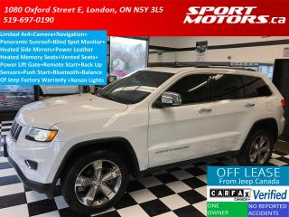 Used 2015 Jeep Grand Cherokee Limited 4x4+Pano+GPS+Vented Seats+Blind Spot+Xenon for sale in London, ON