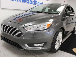 Used 2018 Ford Focus Titanium FWD, sunroof, heated power leather seats, heated steering wheel, back up cam for sale in Edmonton, AB