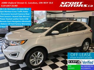 Used 2016 Ford Edge SEL 3.5L V6+Blind Spot+GPS+Pano Roof+Cross Traffic for sale in London, ON