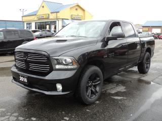 Used 2016 RAM 1500 Sport CrewCab 4X4 5.7L Hemi 5.5ft Box for sale in Brantford, ON