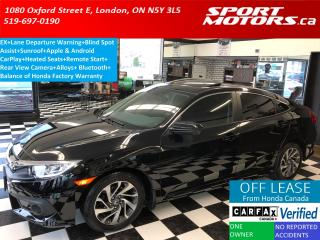 Used 2017 Honda Civic EX+Sunroof+Lane Departure+Apply Play+Remote Start for sale in London, ON