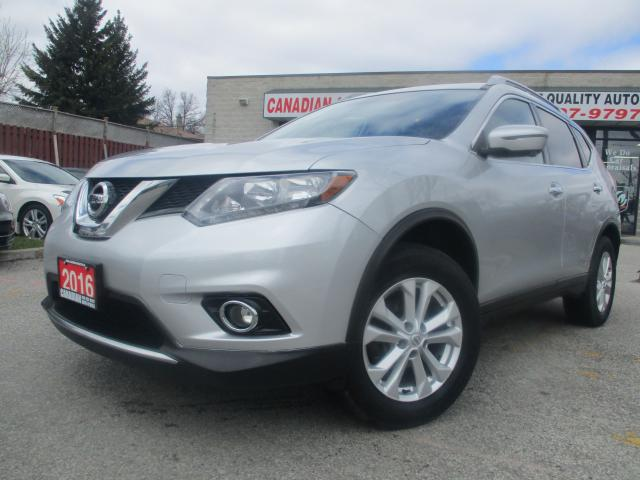 2016 Nissan Rogue AWD-NAVI-CAM-PANO-ROOF-HEATED-BLUETOOTH-ALLOY