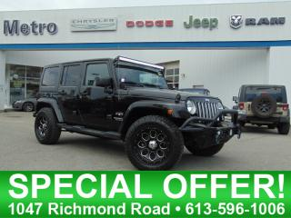 Used 2016 Jeep Wrangler Unlimited Sahara for sale in Ottawa, ON