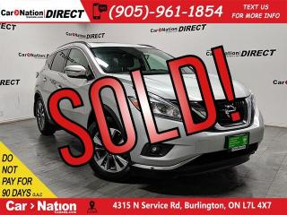 Used 2017 Nissan Murano SV| AWD| PANO ROOF| BACK UP CAMERA| for sale in Burlington, ON