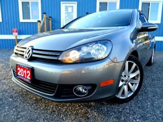 Used 2012 Volkswagen Golf 2.0 TDI Highline Tech Package Leather Sunroof Certified for sale in Guelph, ON