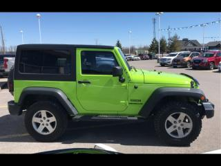 Used 2012 Jeep Wrangler SPORT 2DR AIR 2 TOPS NO ACCIDENTS for sale in Smiths Falls, ON