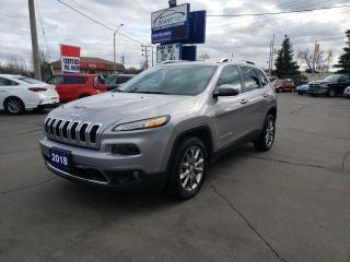 Used 2018 Jeep Cherokee Limited for sale in Brantford, ON
