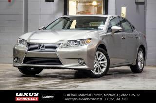 Used 2015 Lexus ES 350 TOURING; CUIR TOIT GPS ANGLES MORTS NAVIGATION - MONITEUR ANGLES MORTS - VOLANT CHAUFFANT - SONAR DE STATIONNEMENT for sale in Lachine, QC