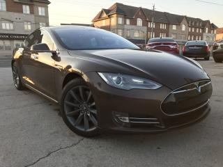 Used 2014 Tesla Model S P85|Accident Free|One Owner|Navi|Leather|Panoramic for sale in Burlington, ON