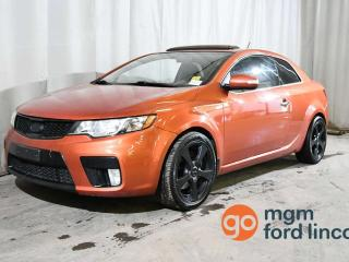 Used 2010 Kia Forte Koup SX 6-SPEED MANUAL | LEATHER | HEATED FRONT SEATS for sale in Red Deer, AB