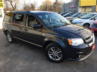 Used 2014 Dodge Grand Caravan CREW/ DVD/ PWR GROUP/ LEATHER & SUEDE/ ALLOYS! for sale in Scarborough, ON