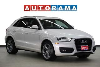 Used 2016 Audi Q3 PROGESSIVE PKG LEATHER SUNROOF AWD BACKUP CAM for sale in Toronto, ON