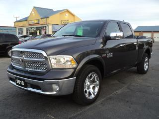 Used 2018 RAM 1500 Laramie CrewCab 4x4 5.7L Hemi 6.5ft Box for sale in Brantford, ON