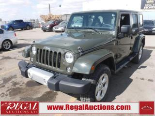 Used 2015 Jeep Wrangler Unlimited Sahara 4D Utility 4WD 3.6L for sale in Calgary, AB
