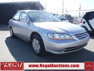 Used 2001 Honda ACCORD  4D SEDAN V6 for sale in Calgary, AB