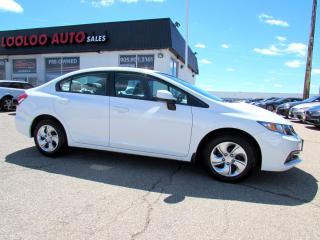Used 2013 Honda Civic LX Sedan Bluetooth Certified 2 Years Warranty for sale in Milton, ON