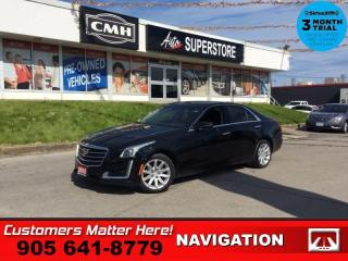 Used 2015 Cadillac CTS Base  NAV LEATH BT BACK-UP-CAM REMOTE for sale in St. Catharines, ON