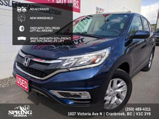 Used 2016 Honda CR-V EX NO ACCIDENTS, NEW WINDSHIELD, LOCAL TRADE, ONE OWNER - $169 BI-WEEKLY - $0 DOWN for sale in Cranbrook, BC