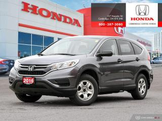 Used 2016 Honda CR-V LX ECO-ASSIST SYSTEM | HEATED SEATS | REARVIEW CAMERA WITH GUIDELINES for sale in Cambridge, ON