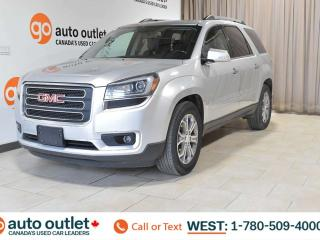 Used 2013 GMC Acadia SLT, AWD, 7 PASSENGER SEATING, SUNROOF, STEERING WHEEL CONTROLS, HEATED SEATS, FRONT AND REAR A/C, SATELLITE RADIO, BLUETOOTH/HANDSFREE, BACKUP CAMERA for sale in Edmonton, AB