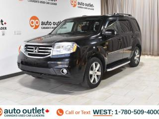 Used 2014 Honda Pilot ONE OWNER!!!!! TOURING, 4WD, REAR DVD ENTERTAINMENT SYSTEM, STEERING WHEEL CONTROLS, CRUISE CONTROL, POWER WINDOWS AND SEATS, A/C FRONT AND REAR, HEATED SEATS FRONT AND REAR, MEMORY SEATS, AM/FM RADIO, SATELLITE RADIO, NAVIGATION, BACKUP CAMERA, BLUETOOTH for sale in Edmonton, AB