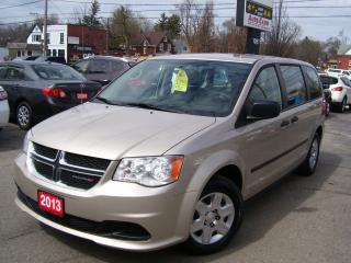 Used 2013 Dodge Grand Caravan SE,ONE OWNER,NO ACCIDENT,CERTIFIED,NEW TIRES for sale in Kitchener, ON