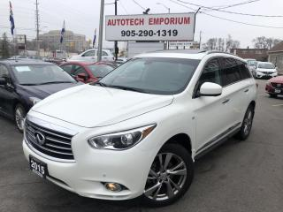 Used 2015 Infiniti QX60 7PASS PREM THEATRE DELUXE NAVIGATION/DVD for sale in Mississauga, ON