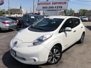 Used 2016 Nissan Leaf Pearl White Navigation//Cam/Btooth/Heated Leather for sale in Mississauga, ON
