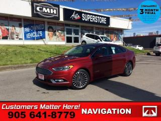 Used 2018 Ford Fusion Titanium  NAV LEATH ROOF CS HS CAM P/SEATS BT for sale in St. Catharines, ON