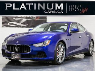 Used 2017 Maserati Ghibli S Q4 PREMIUM, LUXURY, NAVI, Blue Leather for sale in Toronto, ON