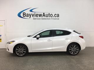 Used 2018 Mazda MAZDA3 GT - AUTO! HTD LEATHER! NAV! SUNROOF! + MORE! for sale in Belleville, ON
